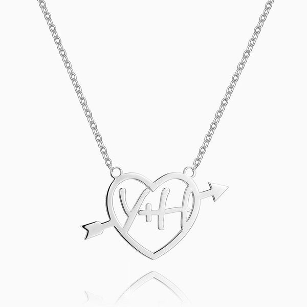 Cupid's Arrow Name Necklace Silver
