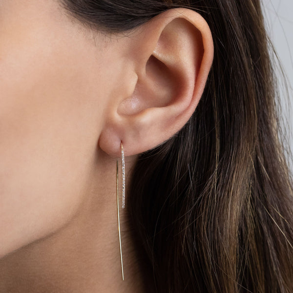 Diamond Threader Earring 14K