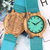 To My Husband - Sky Blue Leather Wooden Watch