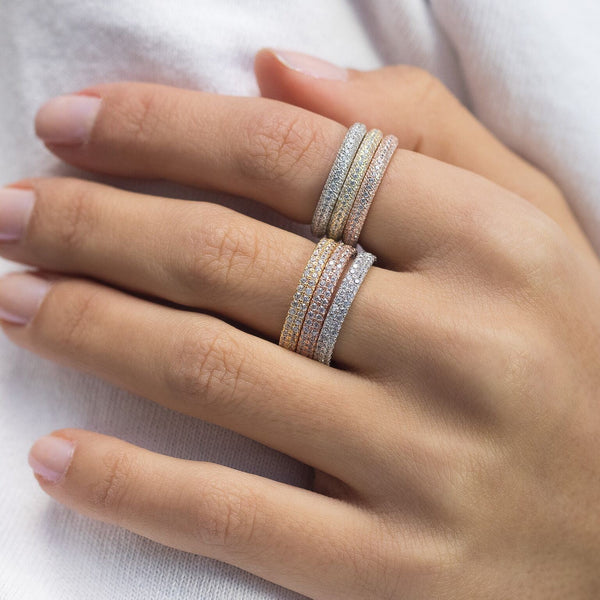 Trio Pave Rings