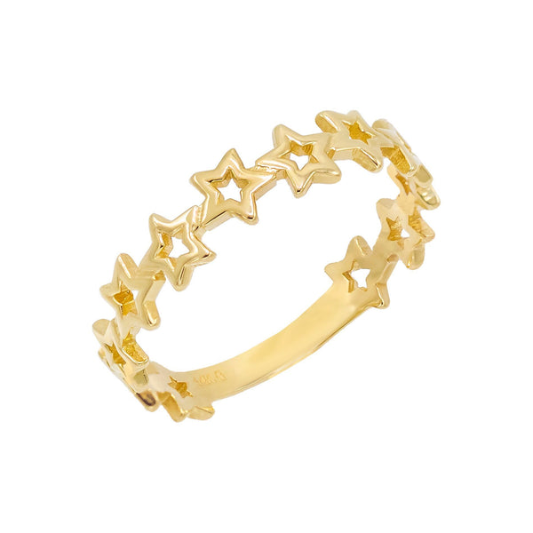Open Star Ring 14K