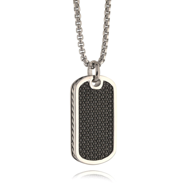 Men's Illusion Dog Tag Necklace