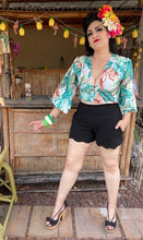 Load image into Gallery viewer, Camila Blouse - Green Tiki Leaves
