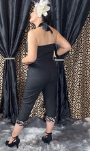 Load image into Gallery viewer, Lady De Jumpsuit in Back with Leopard Accents
