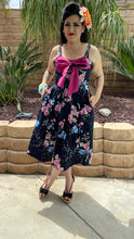 Load image into Gallery viewer, Katharina Dress- Floral  with Magenta Pink