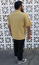 Load image into Gallery viewer, Don Muerto Bowling Shirt in Tan with Leopard Print