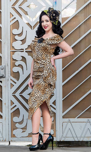 Valentina Dress - Leopard