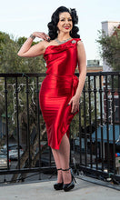 Load image into Gallery viewer, Valentina Dress - Red Satin