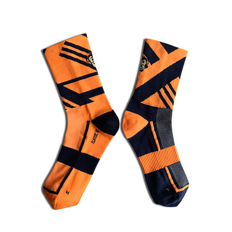 Monkey Sox Classic X6 Orange & Navy