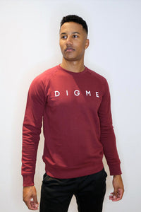 Unisex Digme Burgundy Sweater