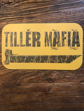 CAMO tiller mafia decal (2 sizes)