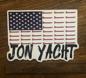 "8.5"" wide Jon Yacht Flag"