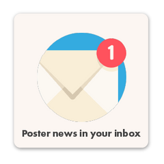 Poster news in your inbox with our newsletter