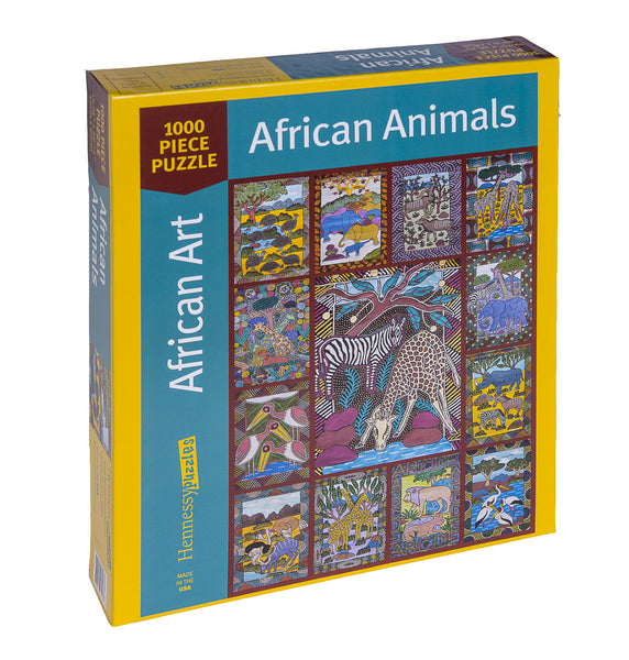 African Animals 1000 Piece Jigsaw Puzzle - Because business IS personal Hennessy Puzzles