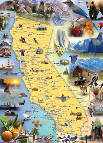 California Jigsaw Puzzle - Hennessy Puzzles  - 1