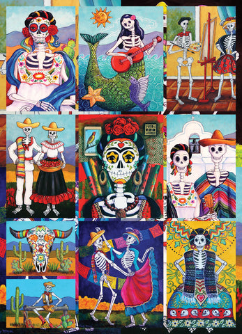 Dia De Los Muertos 1000 Piece - Because business IS personal Hennessy Puzzles