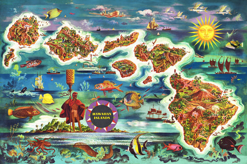 Vintage Hawaii 1000 Piece Jigsaw Puzzle - Hennessy Puzzles