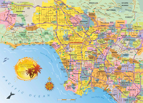 Los Angeles Jigsaw Puzzle - Hennessy Puzzles  - 1