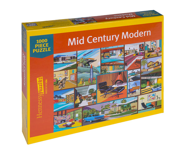 Mid Century Modern Jigsaw Puzzle - Because business IS personal Hennessy Puzzles