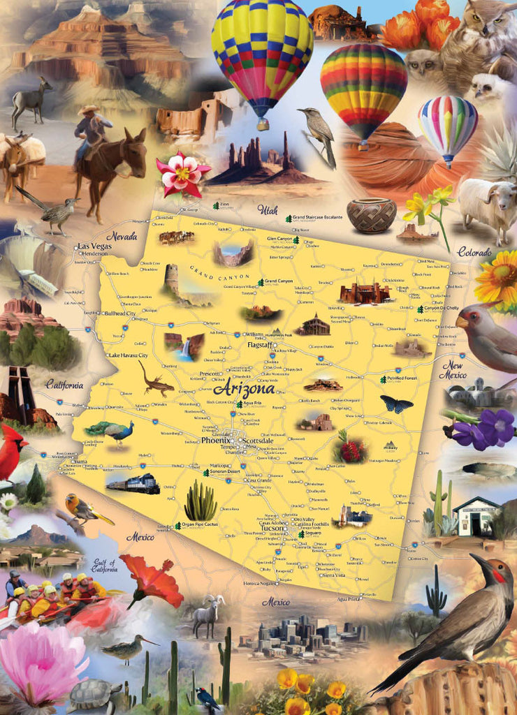 Arizona Jigsaw Puzzle - Because business IS personal Hennessy Puzzles