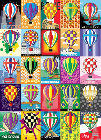 Hot Air Balloons 1000 Piece Jigsaw Puzzle