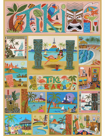 Tiki Time 1000 Piece Jigsaw Puzzle - Because business IS personal Hennessy Puzzles