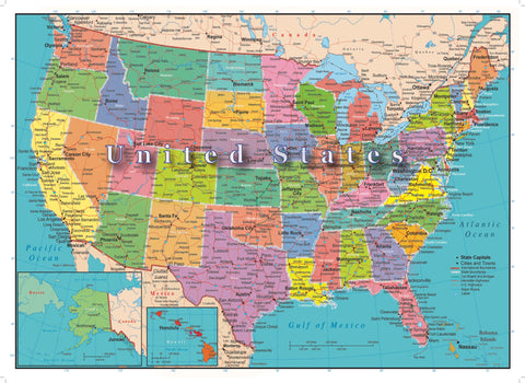 U.S.A. Map Puzzle 300 Piece - Because business IS personal Hennessy Puzzles