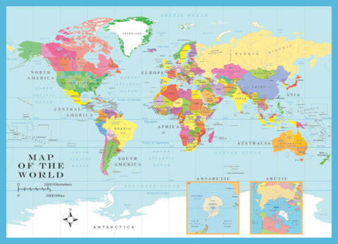 World Map 1000 Piece Jigsaw Puzzle - Because business IS personal Hennessy Puzzles