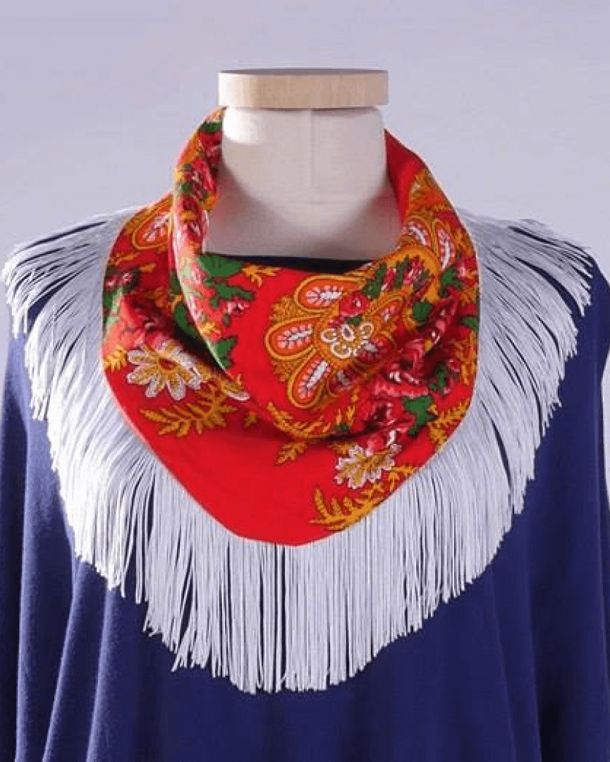 Afife Collar with Blue Fringe