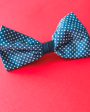 Bow with elastic for hair - Blue Jeans