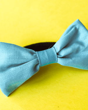 Bow with elastic for hair - Light Blue