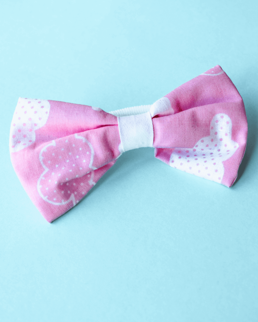 Bow with elastic for hair - Pink Sky