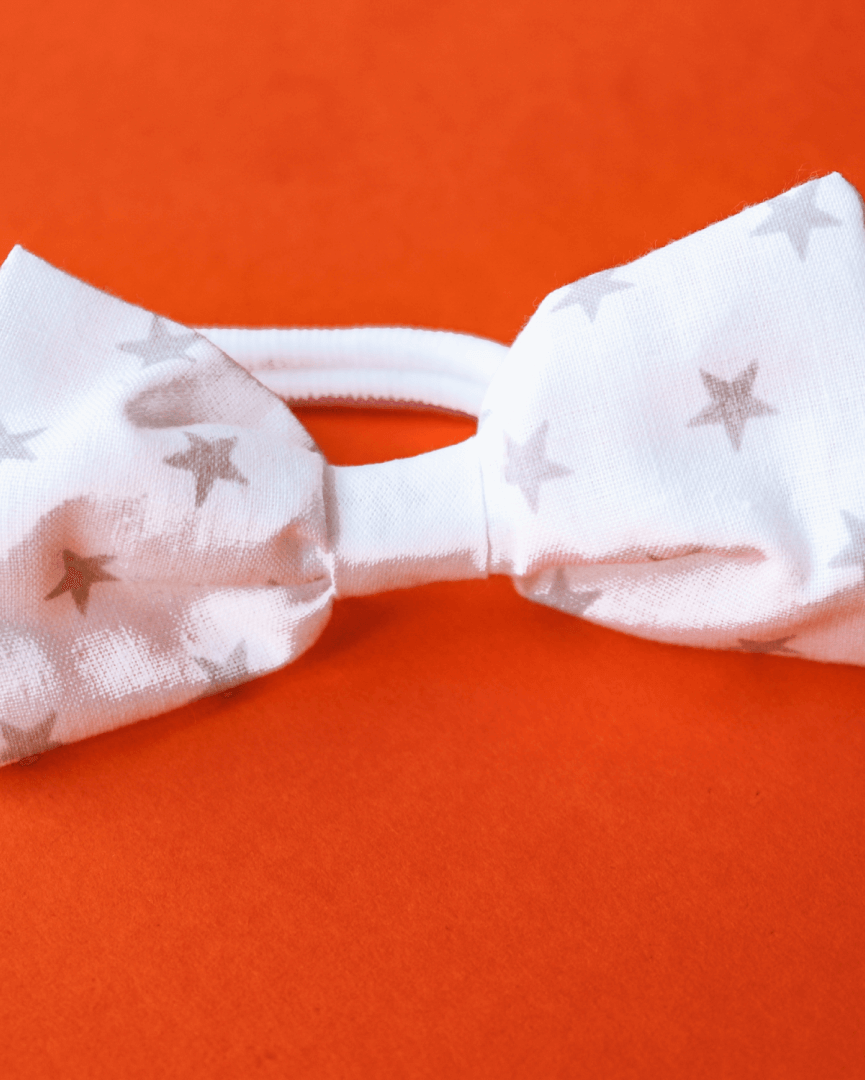 Bow with elastic for hair - Stars
