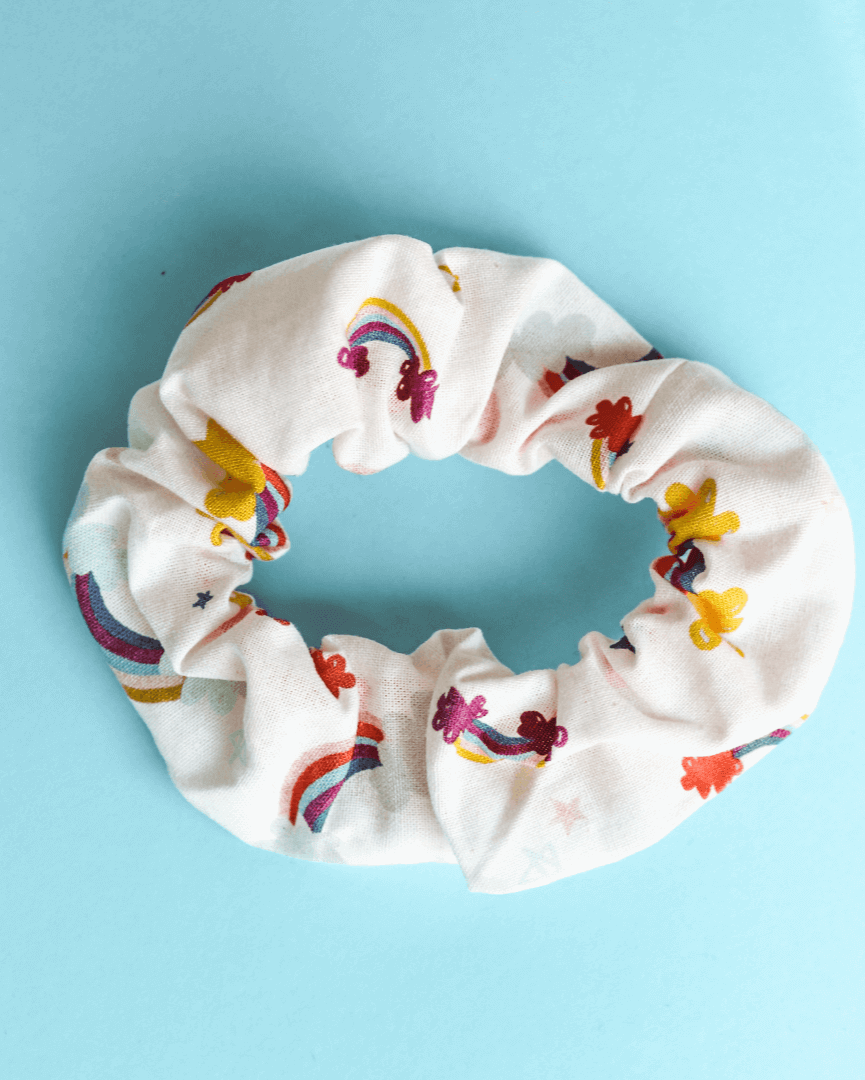 Hair Band - Scrunchie Rainbow