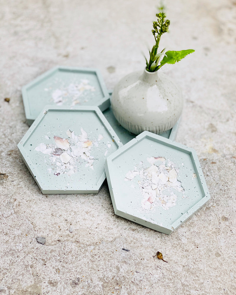 Oyster Bay Coaster Set - Hexagon
