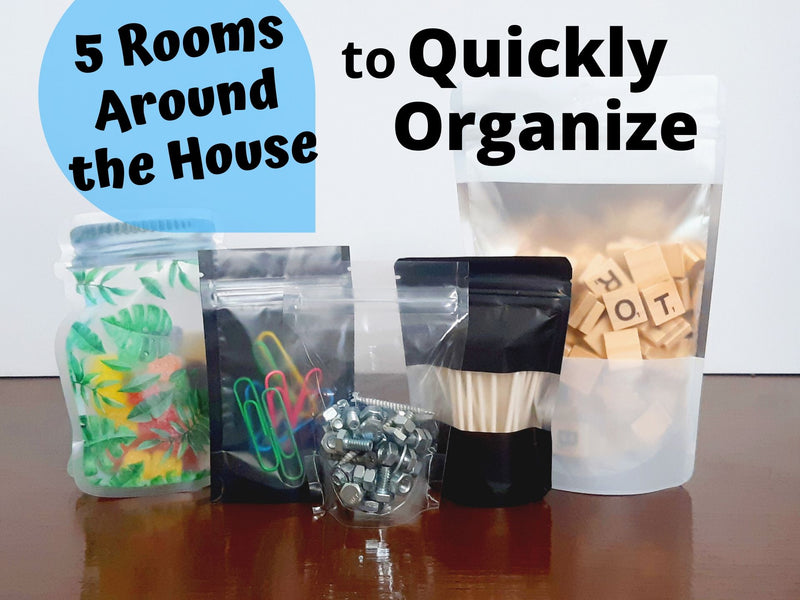 5 Rooms Around Your House To Organize with Stand Up Bags