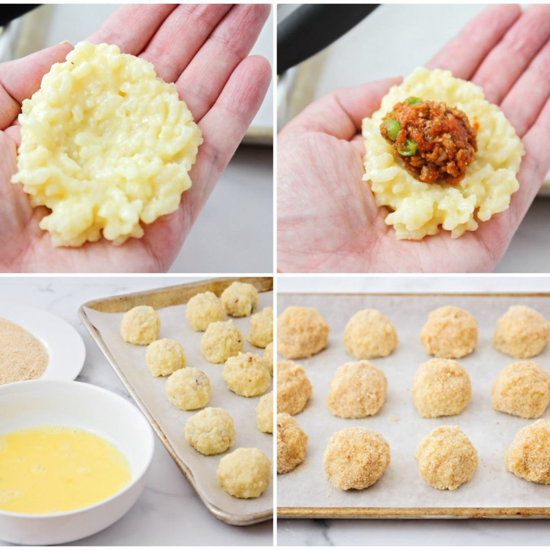 How to Make Rice Balls: Roll Rice with Sauce