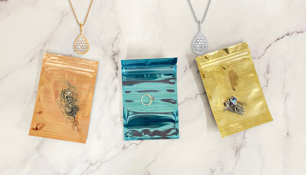 Glossy Reflective Packaging Bags for Jewelry