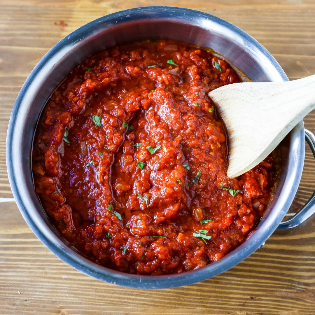 How to Make Rice Balls: Red Sauce