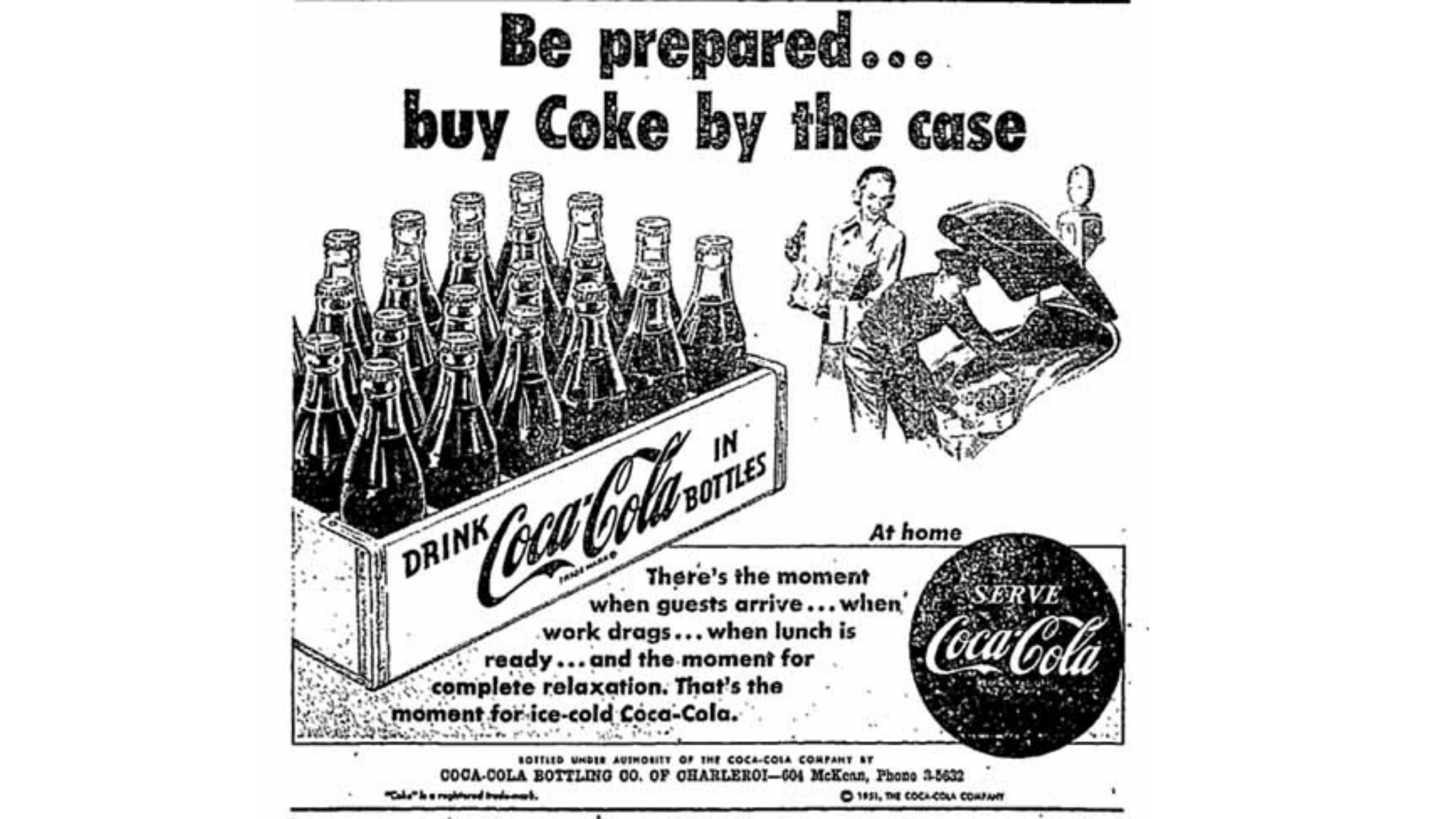 History of Black: Early Coca Cola Advertisements