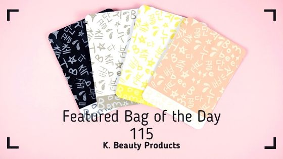 Featured Bag of the Day - 115 Korean Beauty Product Packaging Bag