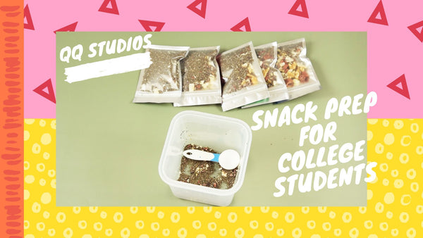 Coconut Chip Trail Mix Snack Prep for College Students