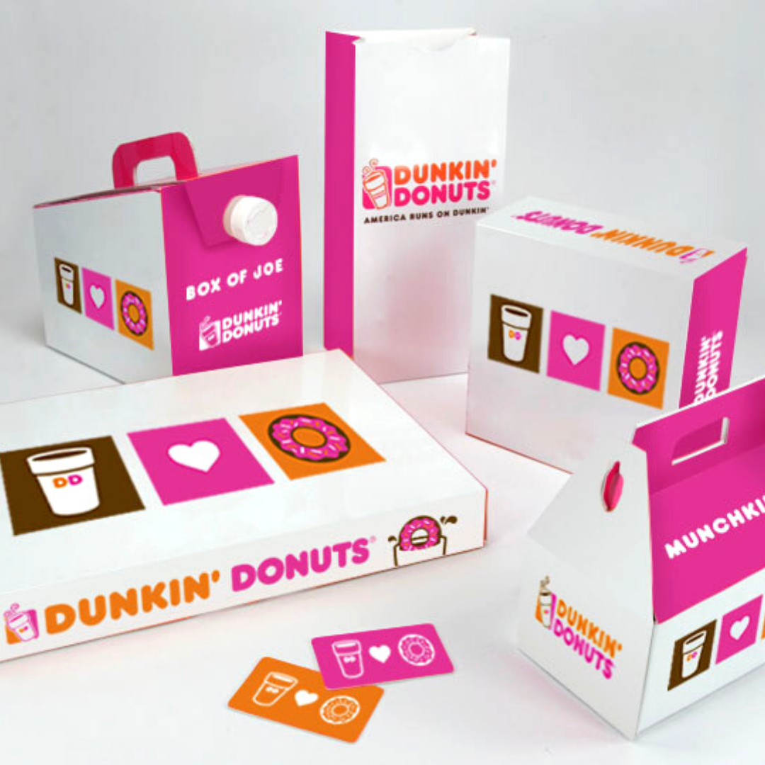 Top Three Industries That Use Pink Packaging: Dunkin Donuts and Pink
