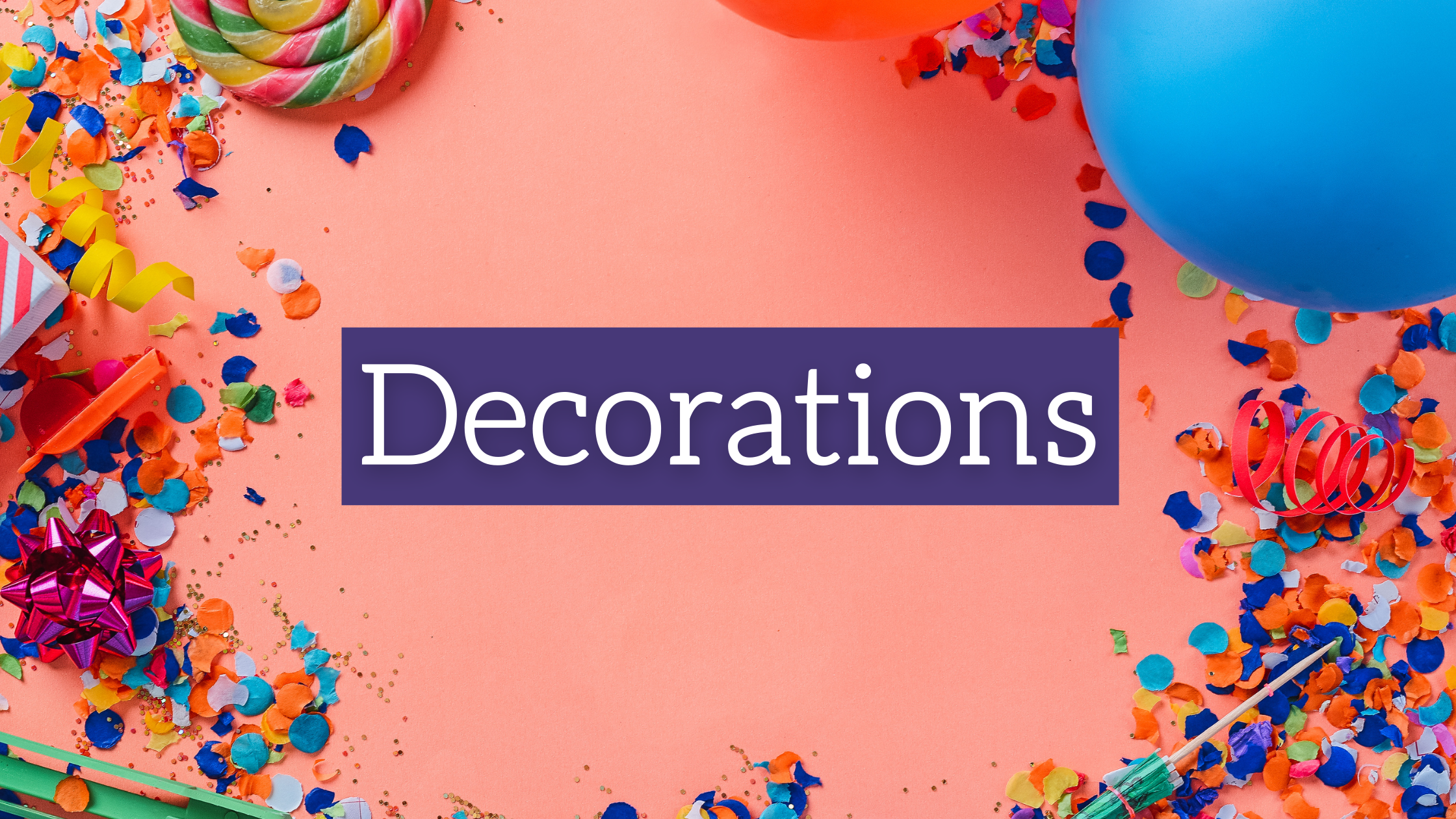 New Year's Home Party Essentials: Decorations