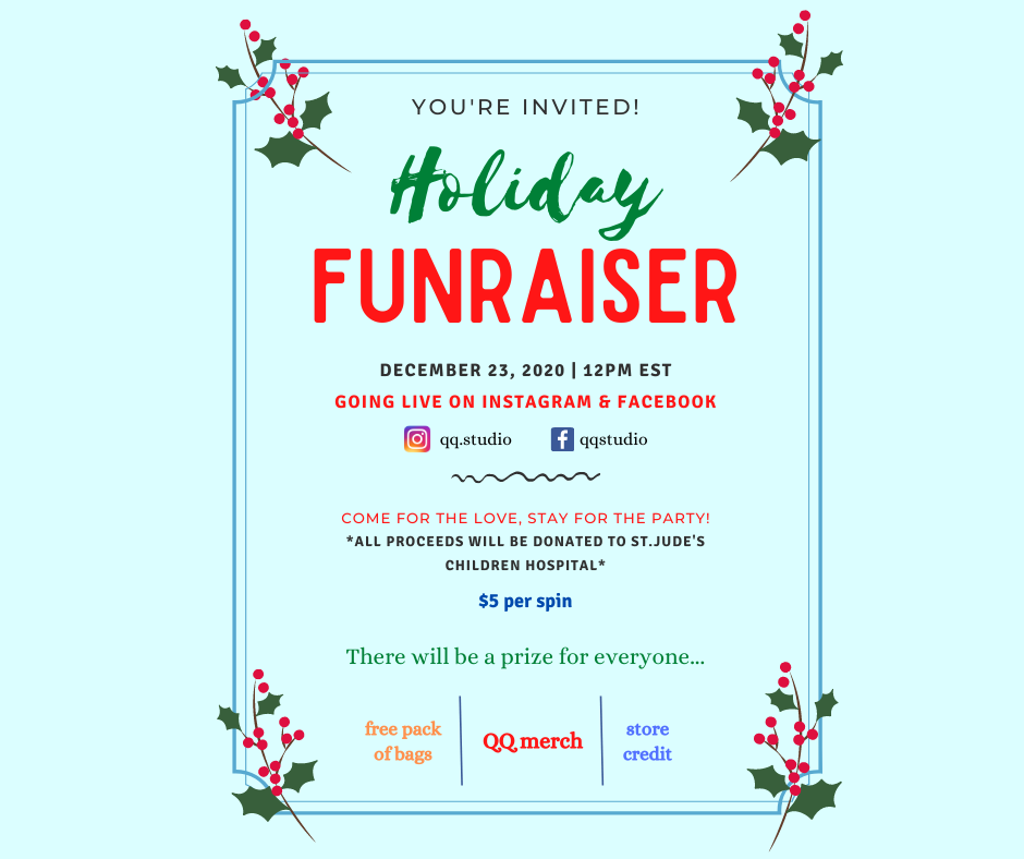 Benefits of Giveaways & Fundraisers: Holiday Fundraiser Invitation