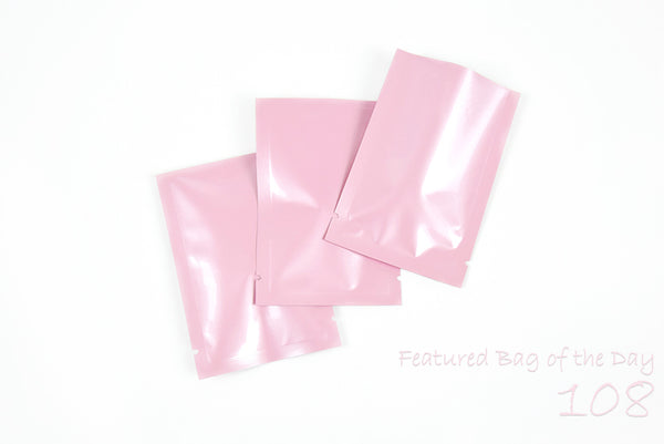 Pink Packaging Pouches for Hair Care Sample Products