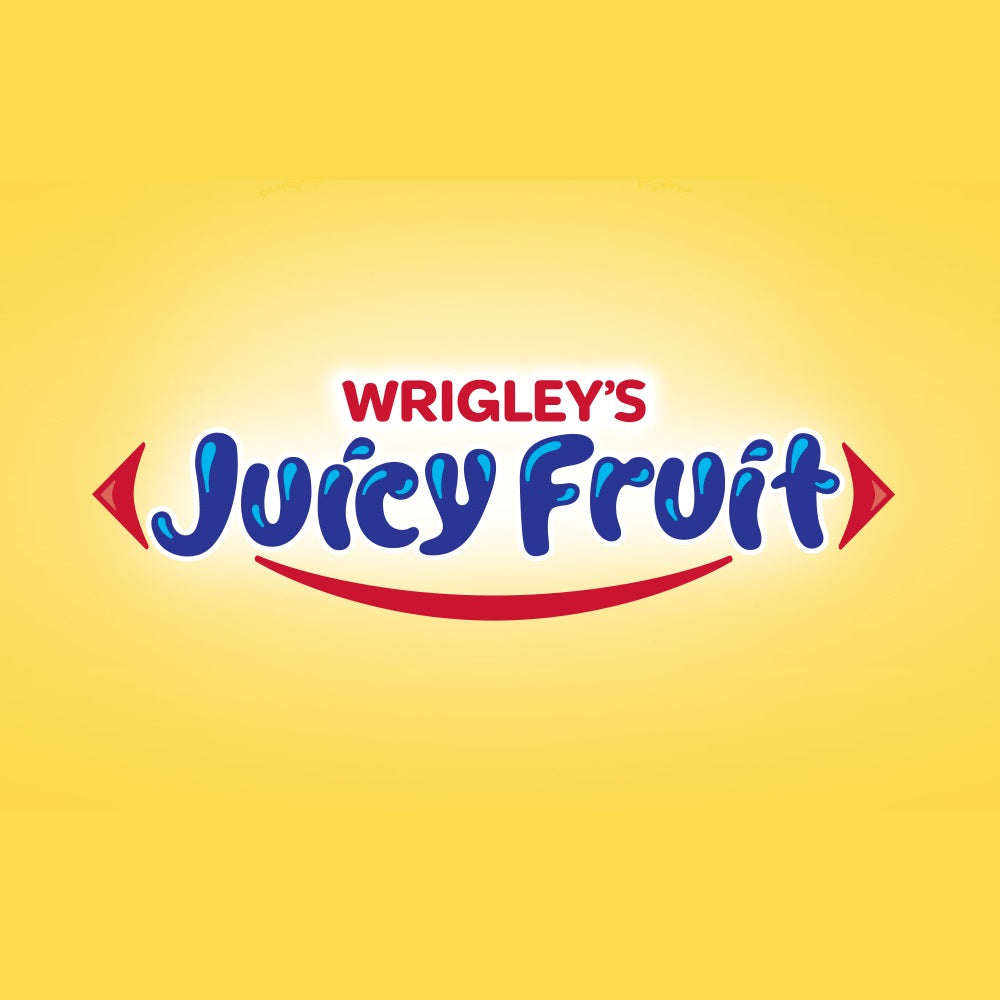 The Best Shades of Yellow to Use for Packaging: Juicy Fruit Logo