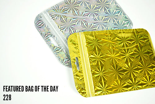 Clear Front Holographic Gold and Silver Bags