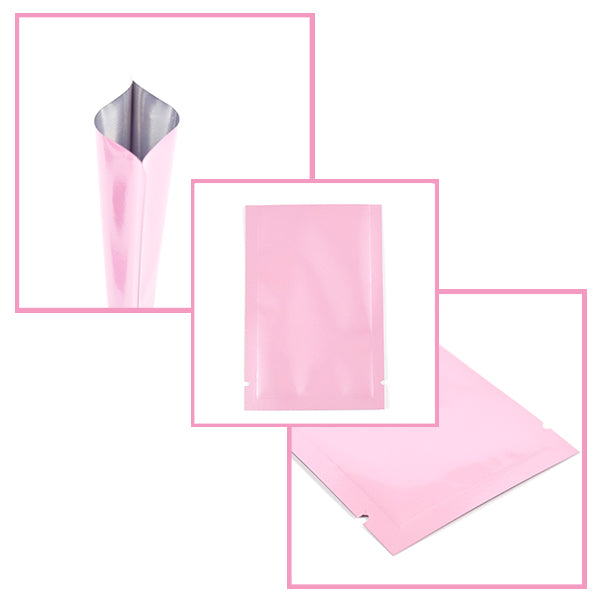 Specifications of Pink Packaging Pouches for Hair Care Samples