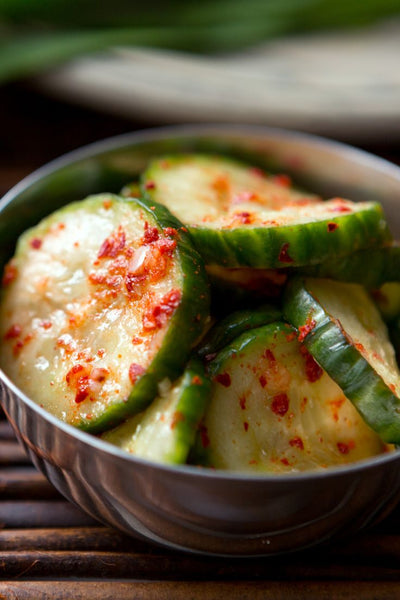 Cucumber Slices with Chili Powder Recipe